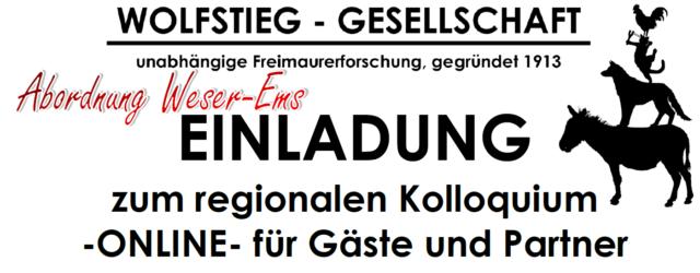 EINLADUNG zum regionalen Kolloquium der Wolfstieg-Gesellschaft Abordnung Weser-Ems