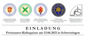 SAVE THE DATE: Einladung zum Freimaurer-Kolloquium am 13.06.2021 in Schwetzingen