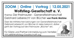 Zoom | 12.05.2021 | Der Freimaurer - GeneralfeldmarschallGebhard Leberecht von Blücher von Frank Matzke