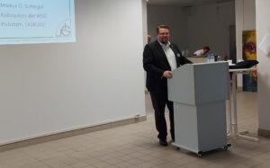 Markus G. Schlegel, Kolloquium der Wolfstieg-Gesellschaft in Potsdam am 14.08.2021