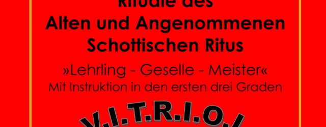Rituale 1-3 des AASR für Freimaurermeister